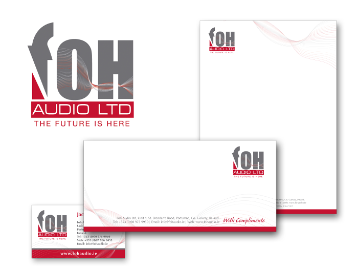 FOH Audio Ltd logo and design for print