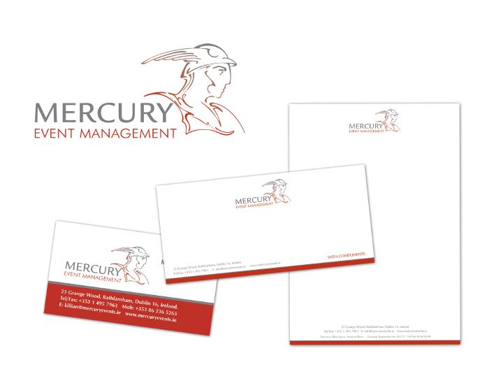Mercury Events Mangement logo design