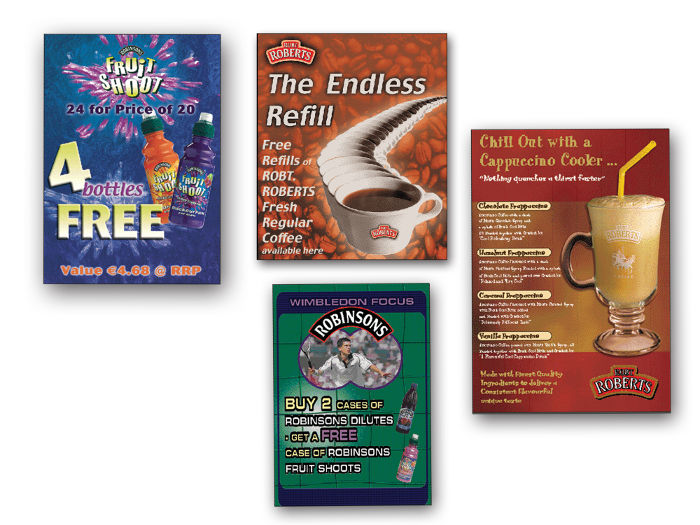 Marketing materials for Robinsons & Robt. Roberts