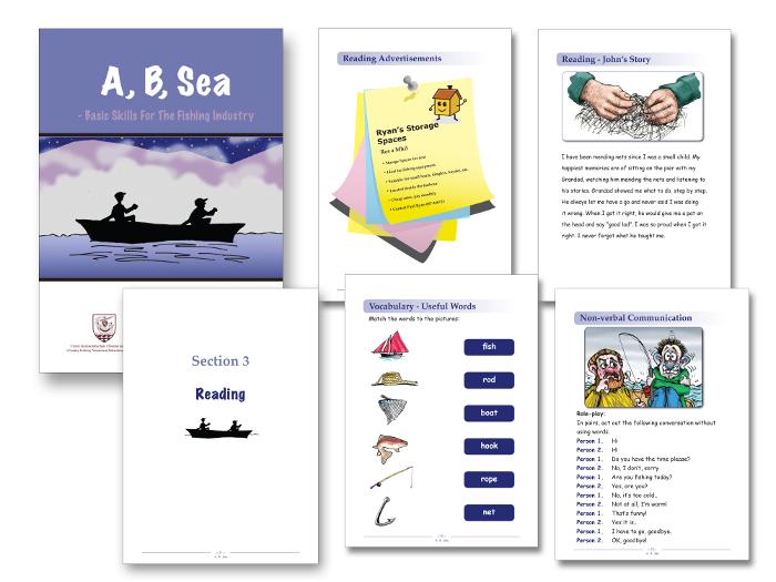 A B Sea book design