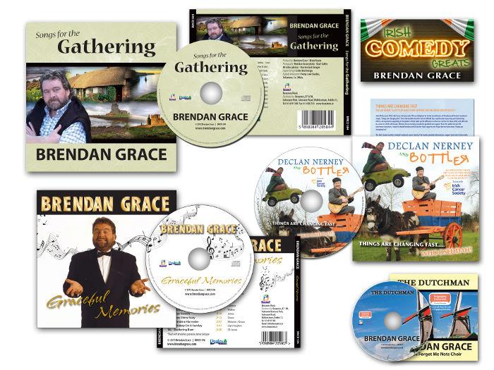 Brendan Grace CDs - design & packaging by Little Bird Design