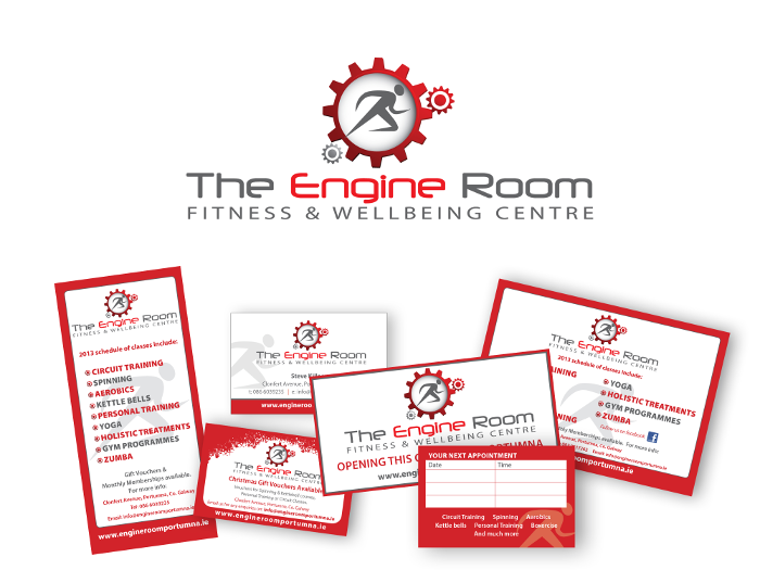 logo and print design for The Engine Room