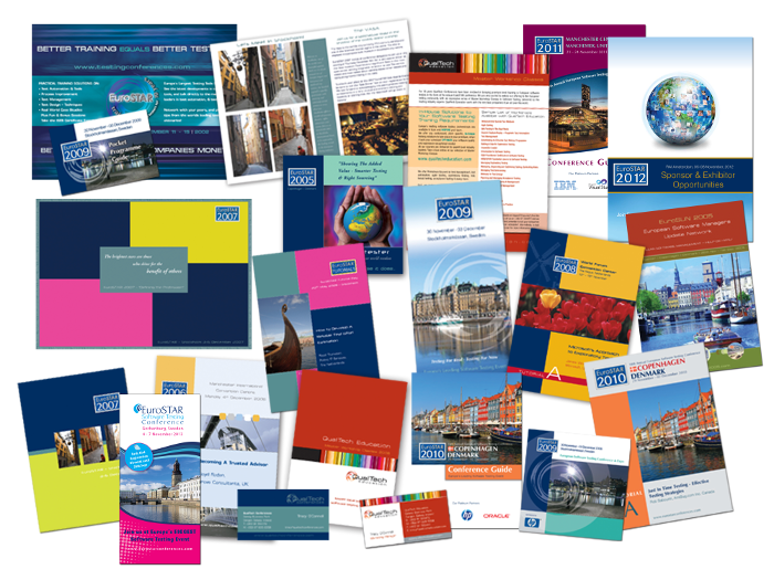 EuroSTAR Conferences design for print