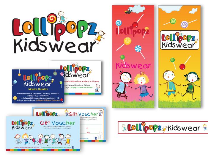 Shop graphics design for Lollipopz Kidswear