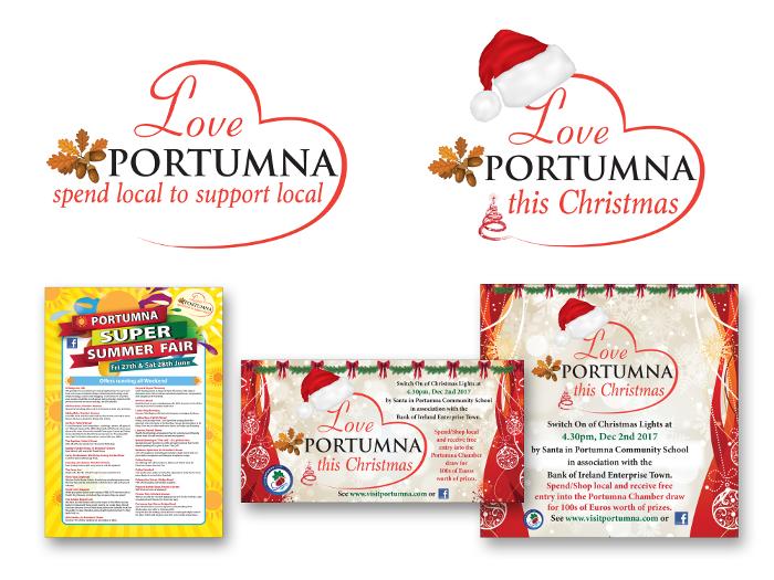 Love Portumna logo design & design for print