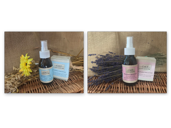 Soap & bottle packaging - Oat & Meadow