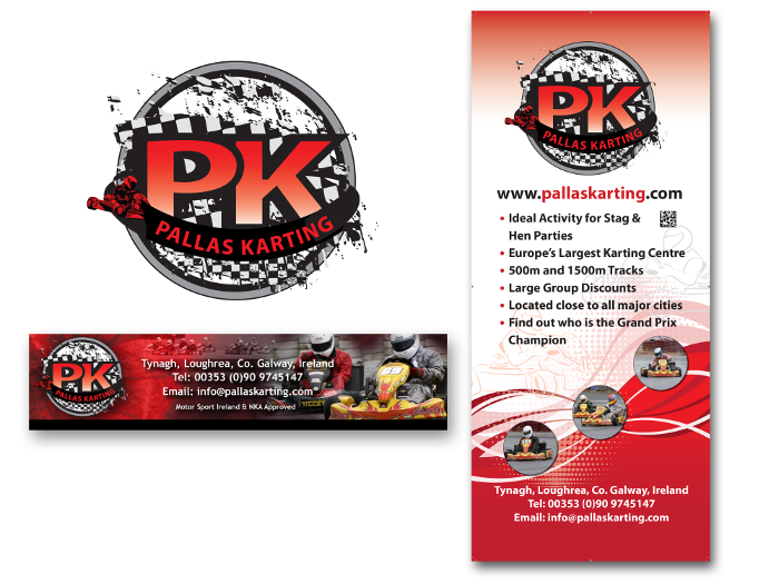 Karting logo design & design for print