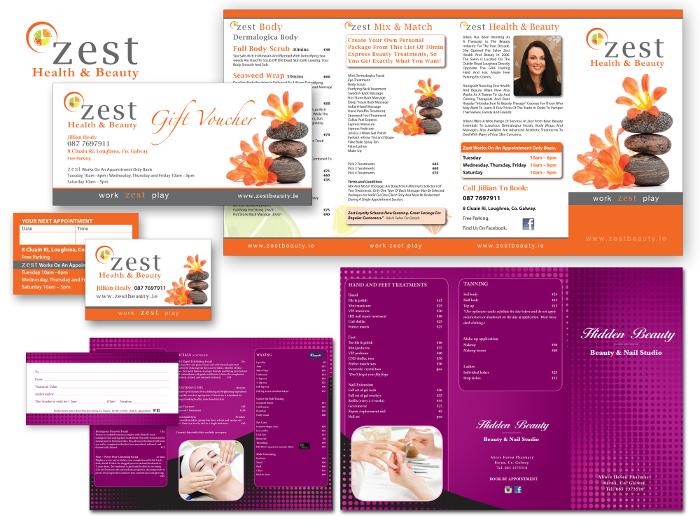 Zest Beauty design for print